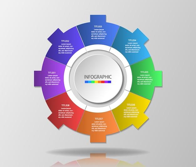 Infographic-sjabloon voor presentatie