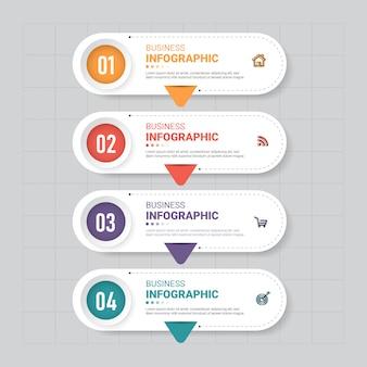 Infographic sjabloonontwerp voor zakelijke spandoek.