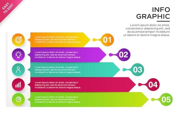 Infographic sjabloonontwerp