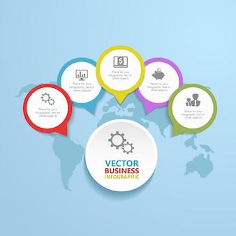Infographic stap voor stap, wegen naar succes