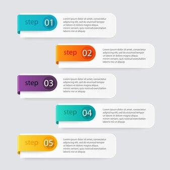 Infographic stappen illustratie
