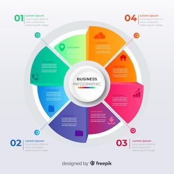 Infographic stappen sjabloon verloopstijl