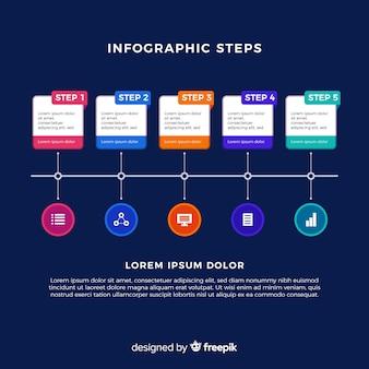 Infographic stappen sjabloon