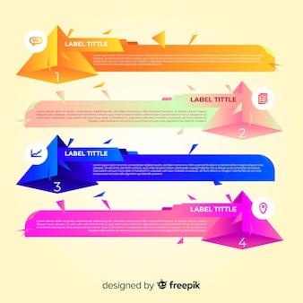 Infographic stappenconcept met gradiënteffect