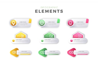 Infographic Steps Elements