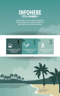 Infographic strand en reizen brochure