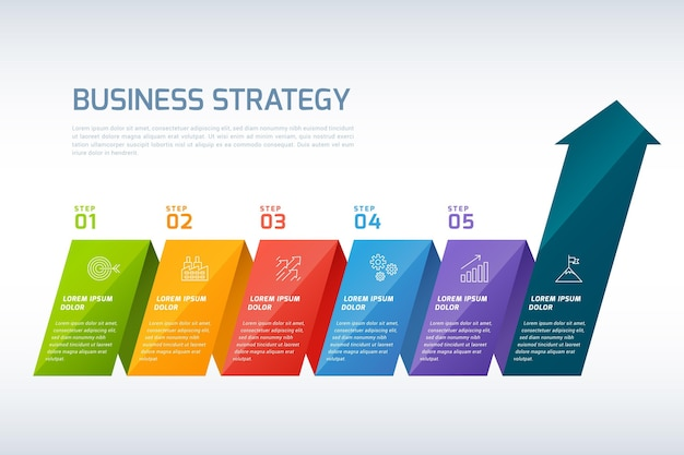 Infographic strategie Premium Vector