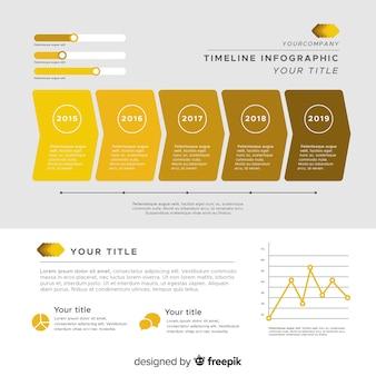 Infographic tijdlijn achtergrond