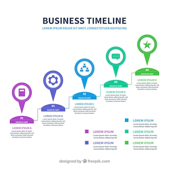 Infographic tijdlijnsjabloon