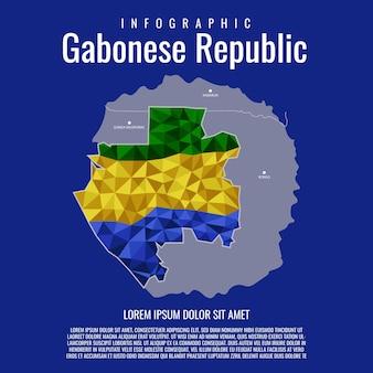 Infographic van de republiek gabon