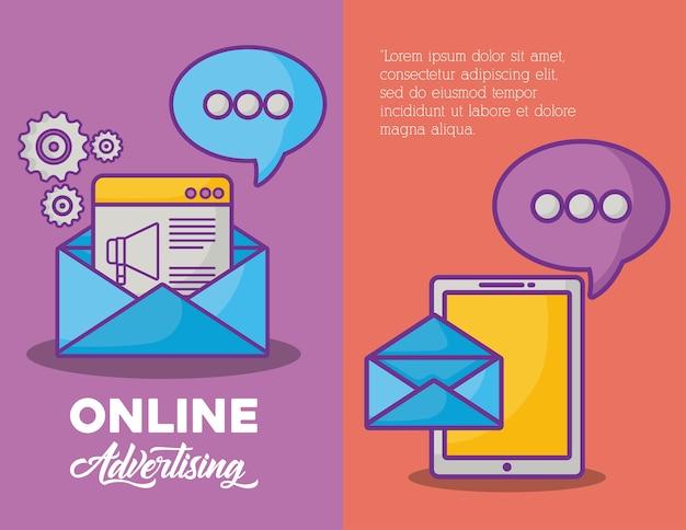 Infographic van online marketingconcept