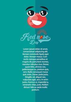 Infographic van rode neus dag concept