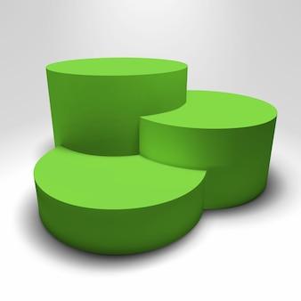 Infographic vector 3d-voetstuk met kleurrijke kolommen