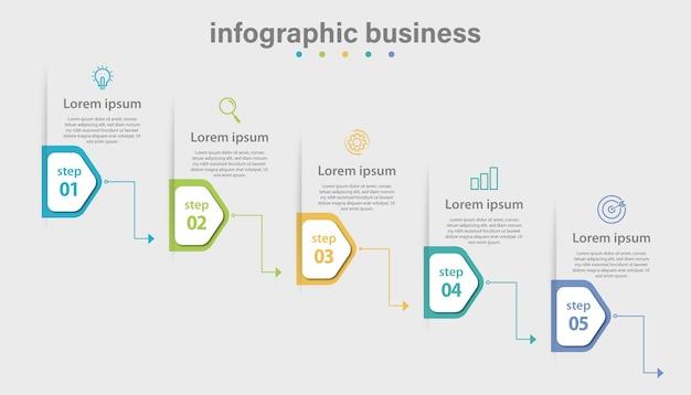 Infographic vector bedrijfssjabloon en gegevensvisualisatie met 4 opties.