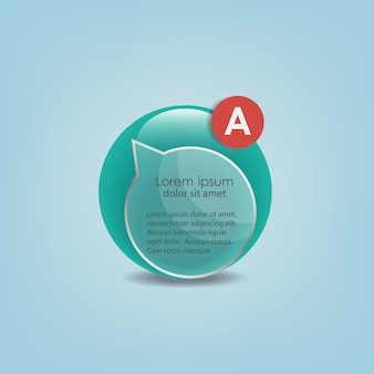 Infographic vector glaselement