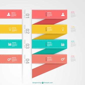 Infographic vector label elementen