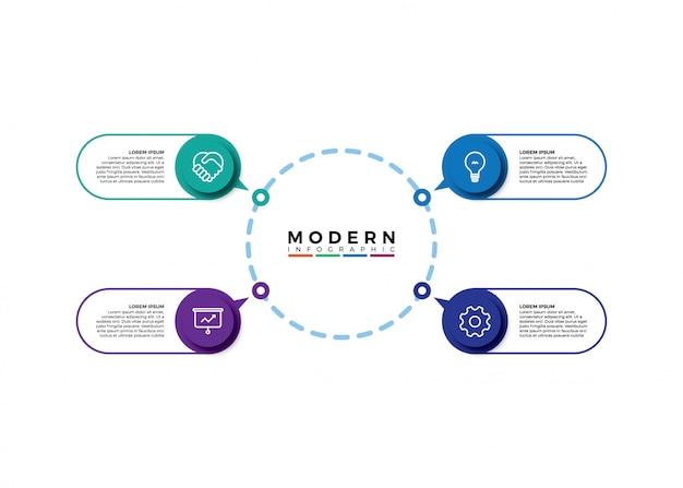 Infographic visualisatie van zakelijke gegevens