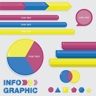 Infographic voor huidige gegevensinformatie.