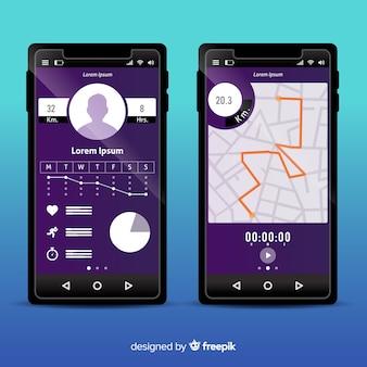 Infographic voor mobiele app