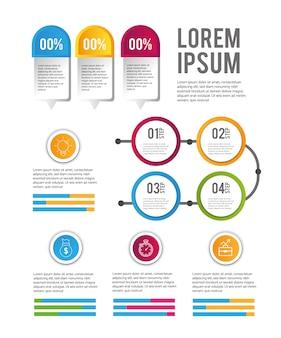 Infographic zakelijke gegevens succes vooruitgang