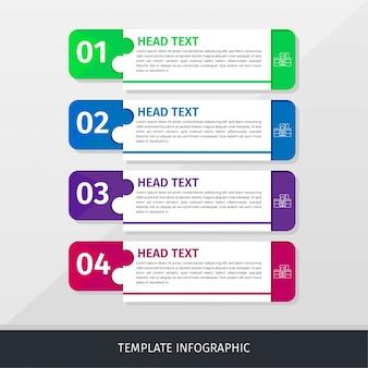 Infographic zakelijke sjabloon baner eenvoudig en modern