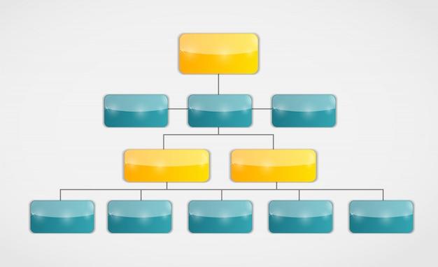 Infographic zakelijke sjabloon met drie stappen