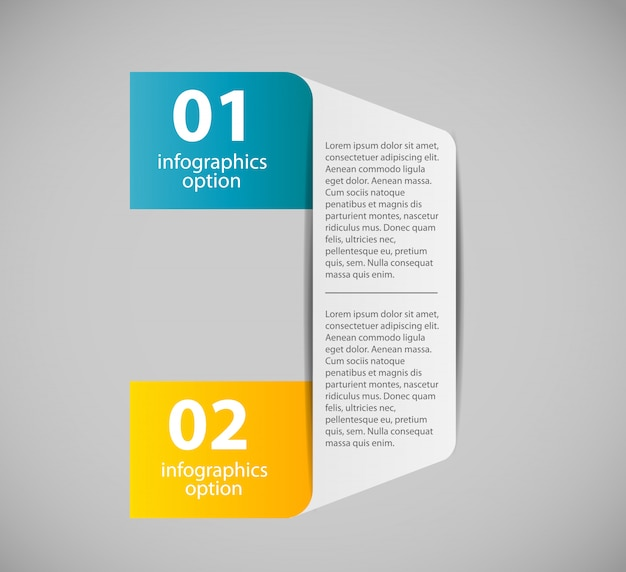 Infographic zakelijke sjabloon met twee stappen