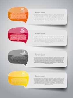 Infographic zakelijke sjabloon met vier stappen
