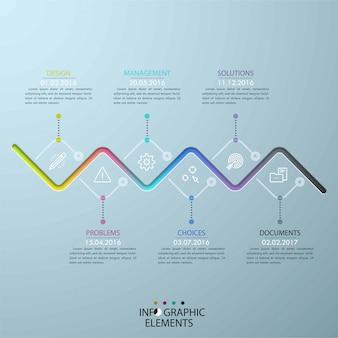Infographic zakelijke sjabloon