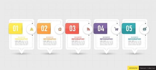 Infographic zakelijke sjabloonontwerp.