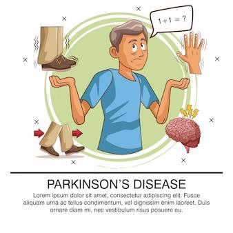 Infographic ziekte van parkinson