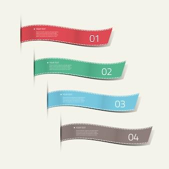 Infographic zijde etiketten decoratieve vector