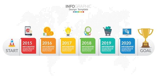 Infographicelementen voor inhoud, diagram, stroomschema, stappen, delen, chronologie, werkschema, grafiek.