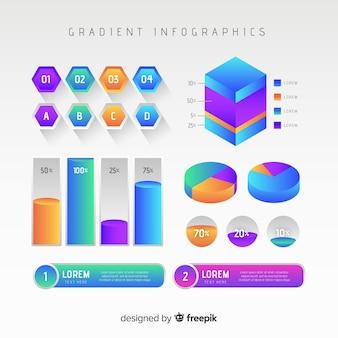 Infographicmalplaatje in gradiëntstijl