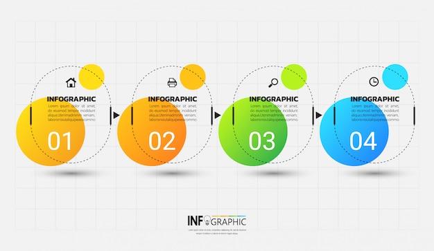 Infographicmalplaatje met overzichtsconcept.
