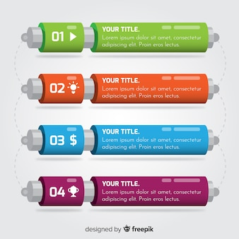 Infographicmalplaatje met stappenconcept