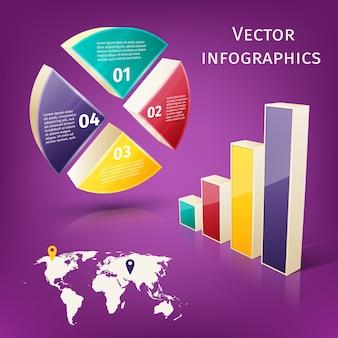 Infographics 3d set