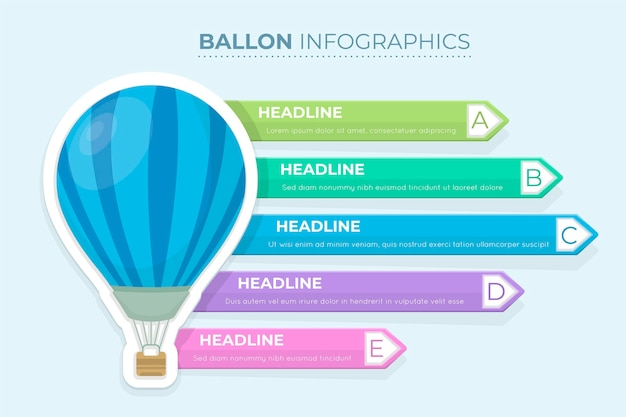 Infographics ballon concept