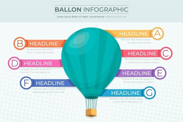 Infographics ballon