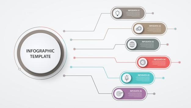 Infographics cirkels opties of stappen. bedrijfsconcept, blokdiagram, informatiegrafiek, cirkeldiagramprocessen.
