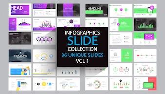 Infographics dia sjabloonontwerp