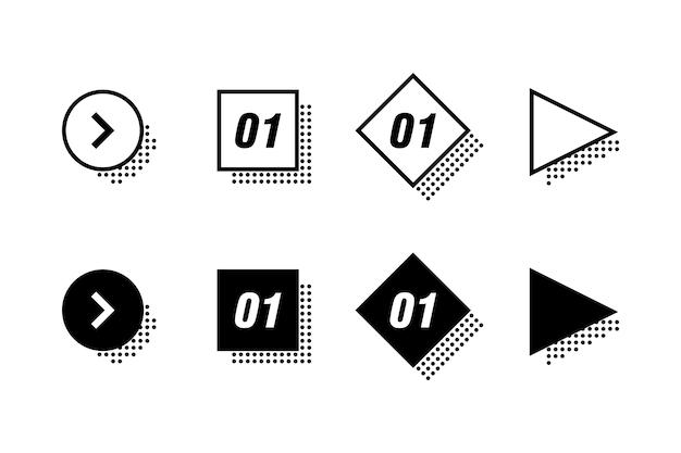 Infographics elementen instellen