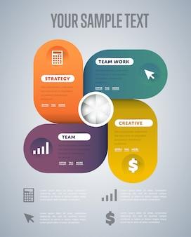 Infographics elementen sjabloon