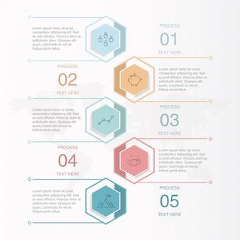 Infographics en pictogrammen voor bedrijfsconcept.