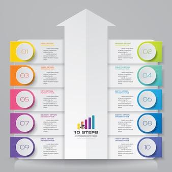 Infographics grafiek ontwerpelement.