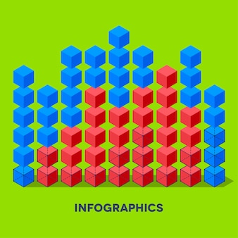 Infographics met kubussen