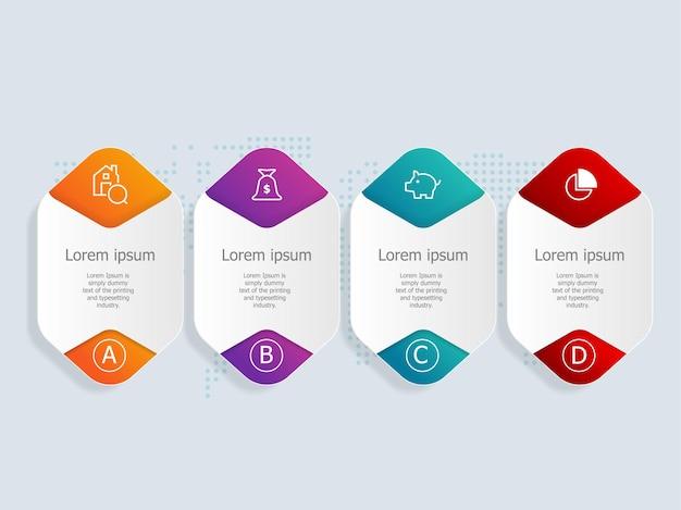 Infographics met pictogrammen voor thuisfinanciën