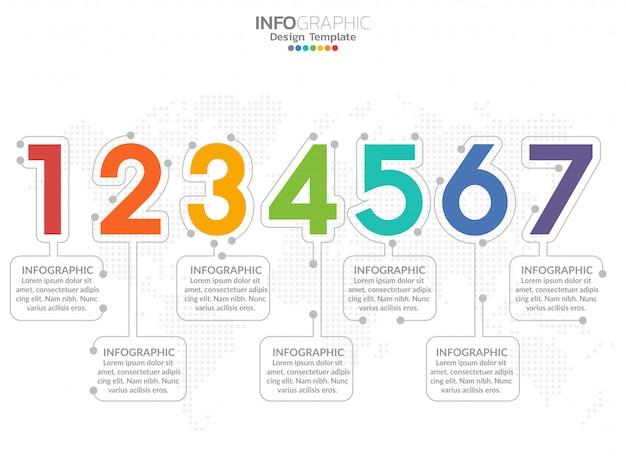 Infographics met stap