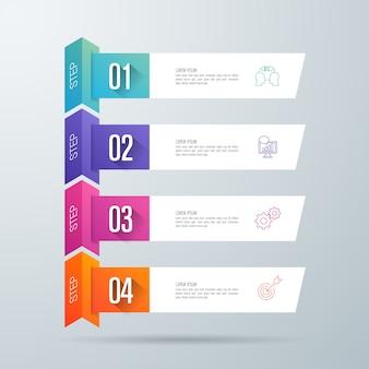 Infographics met stappen