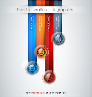 Infographics moderne sjabloon om gegevens en informatie te classificeren